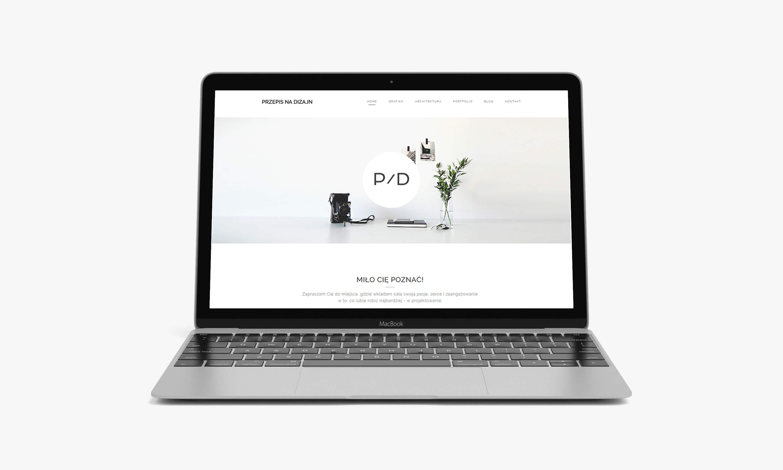 minimalistyczna strona internetowa